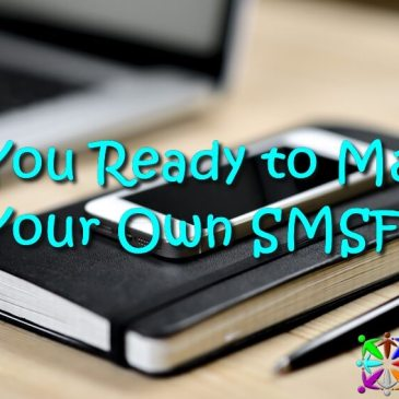 Are You Ready to Manage Your Own SMSF? Image is of a a notebook, a smart phone and a pen on a desk next to a laptop.