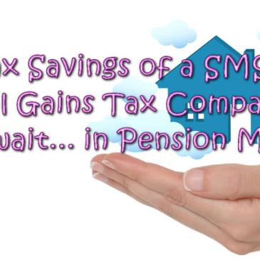 Tax Savings of a SMSF: Capital Gains Tax Comparison,s but wait... in Pension Mode? Image is of a hand, gentle females hand holding a house amongst the clouds, a dream in her hand.